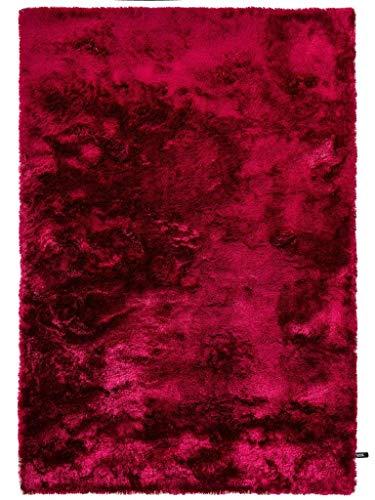 (benuta Shaggy Hochflor Teppich Whisper Pink 140x200 cm | Langflor Teppich für Schlafzimmer und Wohnzimmer)
