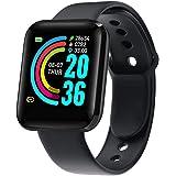 Jadaol Smartwatch Orologio Fitness Tracker Uomo Donna, Bluetooth Smart Watch Cardiofrequenzimetro da Polso Impermeabile IP68