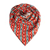 Niche Red Indiana French Crepe Scarf
