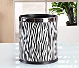 AIDELAI Trash can- Trash Can Double Layer Leather Metal Struct Metal Waste Bin 10L Garbage Container Dustbin Case For Hotel Office (Color : D)