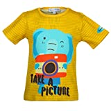 Beanie Bugs Casual Printed Yellow T-shirt for boys (2-3 Years)