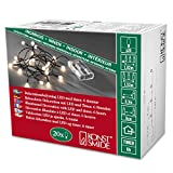 Konstsmide 1491-107 LED Globelichterkette mit runden Dioden / für Innen (IP20) /  Batteriebetrieben: 3xAA 1.5V (exkl.) / 6h Timer / 20 gelbe Dioden / schwarzes Kabel