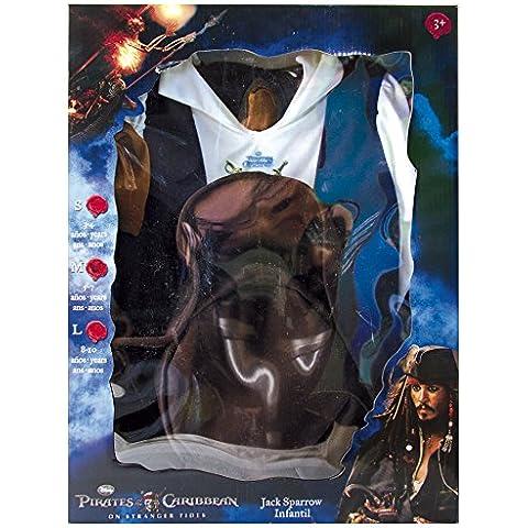 Rubie's - Piratas del Caribe disfraz de Jack Sparrow en caja infantil (884981-L)