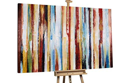 'Spiel der Gezeiten' 180x120cm | Abstakt bunte Linien XXL | Modernes Kunst Ölbild