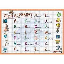 """ARIS EDITIONS Sous-main et Set de table éducatif 30x42 Plastifié, effaçable""""mon alphabet"""""""