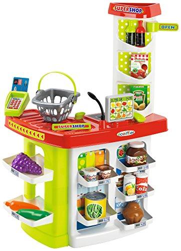 Supermercado 100% Chef con cesta y 20 accesorios (Ecoiffier 1784)