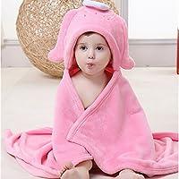 Evtech (TM) Primavera Autunno Kid neonata Boy Accappatoio Asciugamano mantello morbida flanella coperta per neonati adatto per 0–2anni - Flanella Bambino Coperte