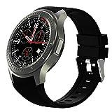 Elikliv WiFi Smart Watch IOS Android 5.1 Bluetooth Wrist 3G GSM GPS SIM Wrist Heart Rate Monitor Goggle Voice Fitness Smartwatch Pulsante di Frequenza Cardiaca del Polso Nero immagine