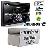 Mercedes Vaneo W414 - Radio Pioneer FH-X720BT USB Bluetooth CD Autoradio Android iPod/iPhone-Direktsteuerung - Einbauset