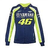 Yamaha Factory Racing Valentino Rossi 462018Vr46Valentino Rossi # 46Femmes Zull Sweat à Capuche zippé à Capuche pour Femme Filles MotoGP, Bleu, Womens (XL) 112cm/44 inch Chest