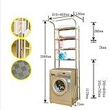 GW Edelstahl Trommel Waschmaschine Regal Balkon Badezimmer WC Multifunktionale Lagerregal,L