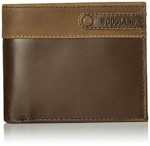 Woodland Brown and Tan Men's Wallet (W 516008)