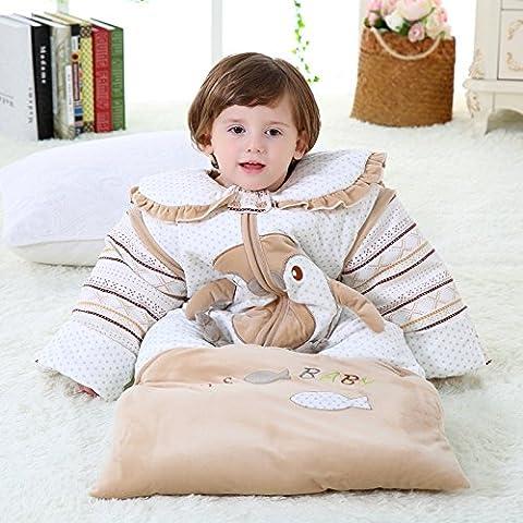 Saco de dormir bebe sleeping bag baby saco de dormir de color rosa bebé durmiendo los niños caerán y el cristal de espesor de terciopelo de invierno contra mangas desmontables Tipi chaleco saco de dormir del bebé del algodón para hombres y mujeres , a017 pink