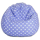 #10: Polka dot pattern digitally printed canvas bean bag with beans filled xxl by Aart