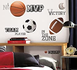 All Star Sports Wall Decal Cutouts