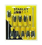 Stanley STHT0-60211 Set 10 Giraviti Essential, Nero/Giallo, Taglia Unica