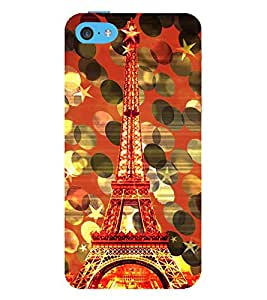 Eiffel Tower New York 3D Hard Polycarbonate Designer Back Case Cover for Apple iPhone 5C