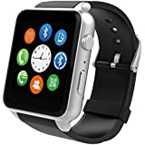 FUNSY New Smart Watch Fashion Wrist Smartwatch Heart Rate Monitoring with Camera Waterproof for IOS Android Phone Mate