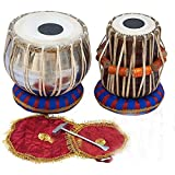 AMAZE MUSICALS Student Tabla Set, Steel Bayan, Dayan with Book, Hammer, Cushions & Cover - Perfect Tablas for Students and Beginners on Budget, Tabla Drums, Indian Hand Drums