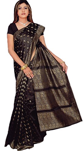 Trendofindia Indiano Sari Bollywood CA108, Colore Nero