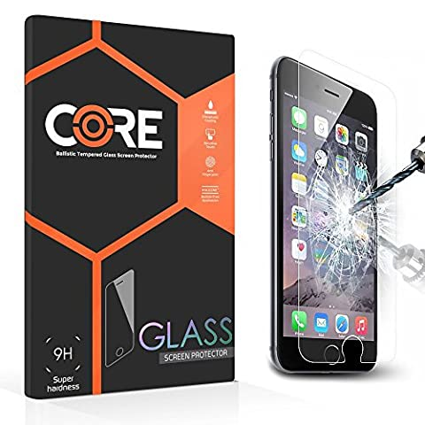 Core Protection d'écran en verre trempé Premium pour iPhone Dureté 9H Ultra fine 0,3 mm Application facile sans bulles [garantie à vie]