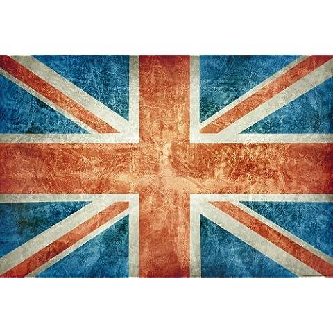 Empire Merchandising - Poster, motivo: Union Jack stile rétro, con accessori per il montaggio Avec 2 baguettes