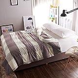 FuweiEncore Einfarbiger Baumwollbettbezug, Gitter einfach warm halten Bettbezug, Weiche, atmungsaktive Bettbezug Einzelbetten - 248 x 248 cm (98 x 98 Zoll) (Farbe : D, Größe : 150x215cm(59x85inch))