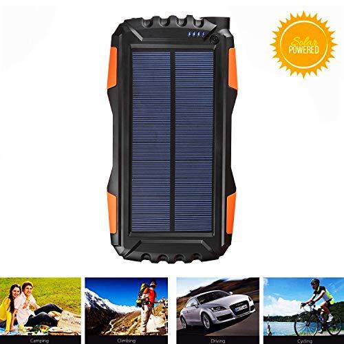 Soluser Solar Ladegerät Powerbank 25000mAh Verbessert Externer Akku mit 2 USB Ausgängen & Starker LED-Taschenlampe Für das Android/iOS Phone Und Andere