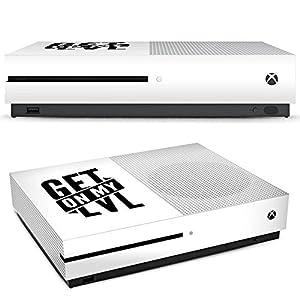 DeinDesign Skin kompatibel mit Microsoft Xbox One S Aufkleber Folie Sticker Montanablack Gaming Fanartikel Merchandise