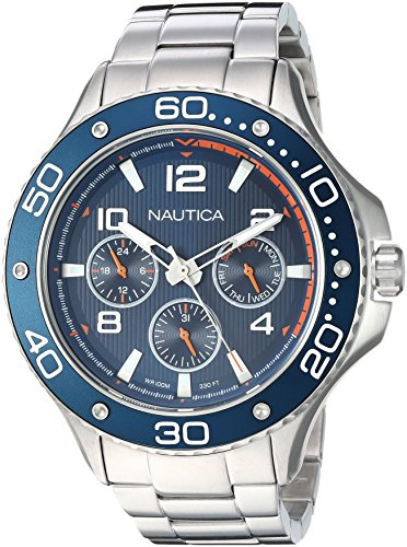 Nautica Men's Analogue Quartz Watch with Stainless Steel Strap NAPP25006