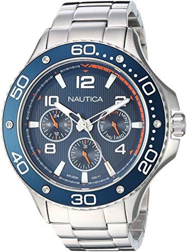 Nautica Reloj Analogico para Hombre de Cuarzo con Correa en Acero Inoxidable NAPP25006