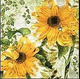 20 Servietten Sonnenblume Herbst Gartenblume Vintage Sonne Blume Blumenmotiv 33 x 33cm