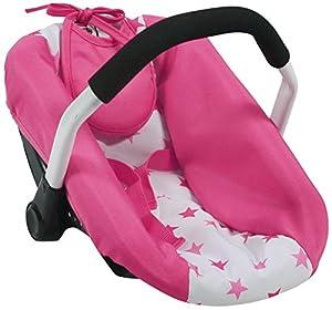 Bayer Chic 200070889muñecas de Auto Asiento, muñeca portabebés, Pony & Princess, Color Rosa