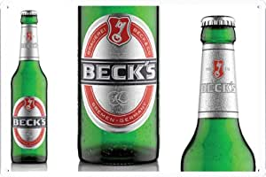 Tin Sign 20*30cm Metal Poster of Beck's Beer Focus on Label