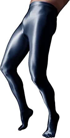 CHICTRY Mens Glossy Oil Shiny Silky Pantyhose Sissy Footed Tights Stockings Hosiery Underwear