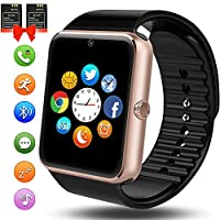 ANCwear Bluetooth Smart Watch, Smartwatch with SIM Card Slot Camera Music Play Sports Smart Watch Phone with Pedometer Sleep Monitor Compatible Iphones Android Phones for Women Men Kids