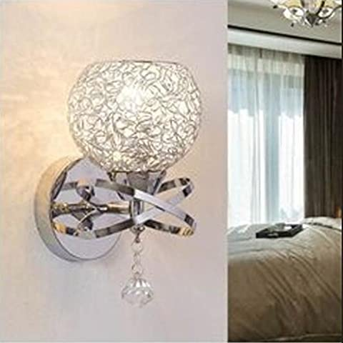 lámpara de pared interior / exterior / chino / moderna / mesita de noche / alambre de aluminio / de la pared / E27 220V / bombillas no incluidas /