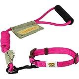 United Pets UPTC1303RO Hundehalsband mit Leine, groß, 46 - 68 cm, pink