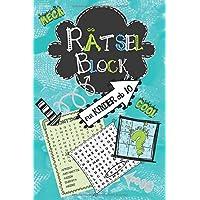 Rätselblock für Kinder ab 10: Wortsuchrätsel, Sudokus, Labyrinthe, Buchstabenrätsel, Wortsalat - cooler Rätselspaß für…
