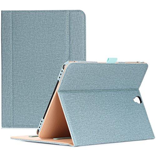 ProCase Klappen Schutzhülle für Galaxy Tab S3 Tablet, Stand Folio Case Cover für Galaxy Tab S3 Tablet (9,7 Zoll, SM-T820 T825), mit Mehreren Betrachtungswinkeln, Dokumentenkarte Tasche -Knickente (Galaxy S3 Samsung Film Case)