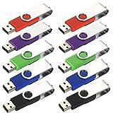 aretop ER 10USB 2.0Rotary Stick Billig für PC gemischt Farbe Grün/Rot/Schwarz/Blau/Violett (32G)