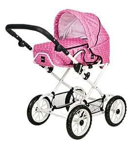 Brio 24890331 - Puppenwagen Combi, pink mit Punkten