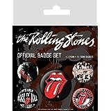 Pyramid International BP80465 - Insignia clásica de Rolling Stones (10 x 12,5 x 1,3 cm), multicolor