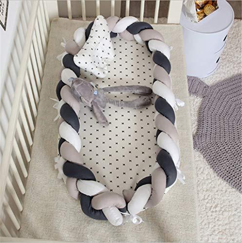 Risareyi Modische Babybett Wache Seitenschutz Nordischen Stil Knoten Baby Tröster Neugeborenen Nickerchen Matte Sofakissen Tragbare Geburt Feier -