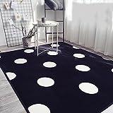 XIN-Carpet Geometrische einfache Punkte Dicke 15mm rechteckigen Teppich/Wohnzimmer Couchtisch Sofa Mode Teppich/Schlafzimmer Nachttisch Teppich/Rutschfeste Maschine waschbar Kinder Krabbeln Matte