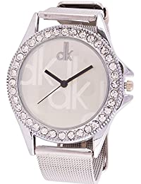 Krupa Enterprise Analogue Silver Dial Watch For Women and Girls