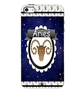 PrintDhaba zodiac Aries D-2768 Back Case Cover for APPLE IPHONE 5 (Multi-Coloured)