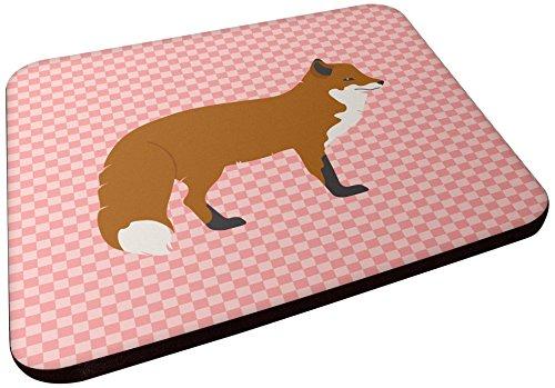 Caroline 's Treasures bb7876fc rot Fox Rosa kariert Dekorative Untersetzer, 3,5, multicolor (Gefärbt Fox)