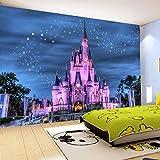 Foto Kinderzimmer Tapete Wand Hintergrund 3D Cartoon Burg Sternenhimmel Dekoration Tapete