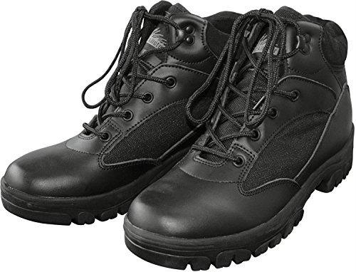 McAllister Semi Cut Boots schwarz Größe (Halloween Militär Erwachsenen Kostüme)